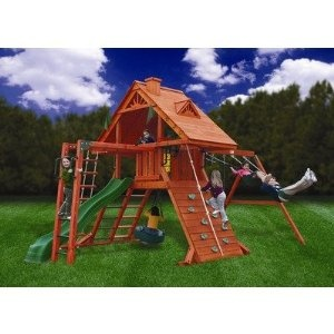 Gorilla Playsets Sun Palace II with Monkey Bars Playground System