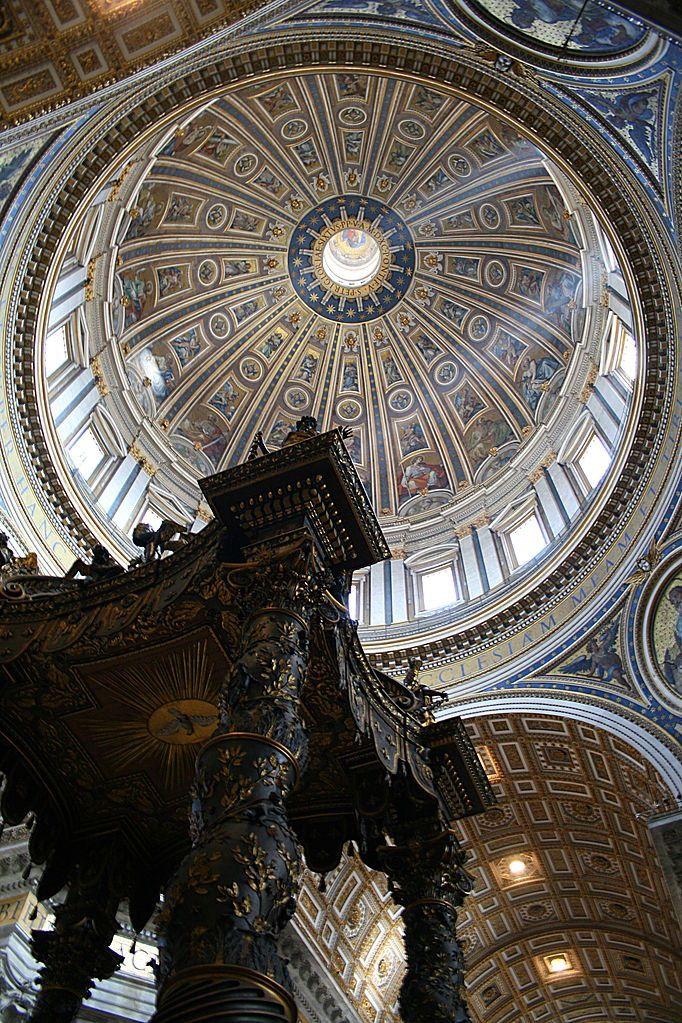 Базилика Святого Петра. Ватикан. Купол Микеланджело