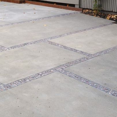 modern landscape pavers design pictures remodel decor and ideas large concrete pavers with gravel for driveway - Concrete Driveway Design Ideas