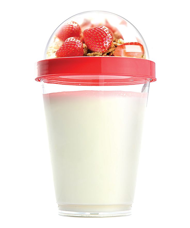 Red Reusable Yogurt Cup