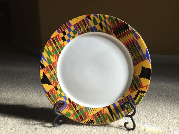 Kente plate, speciality plate. Events by Nessa | Kente ...