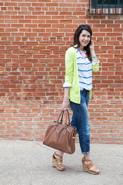 A Gap cardigan and pair of boyfriend jeans as featured on the blog @Kendi Everyday.