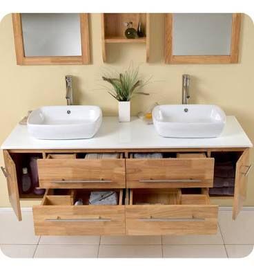 Charming Modern Wooden Bathroom Vanity Renovation