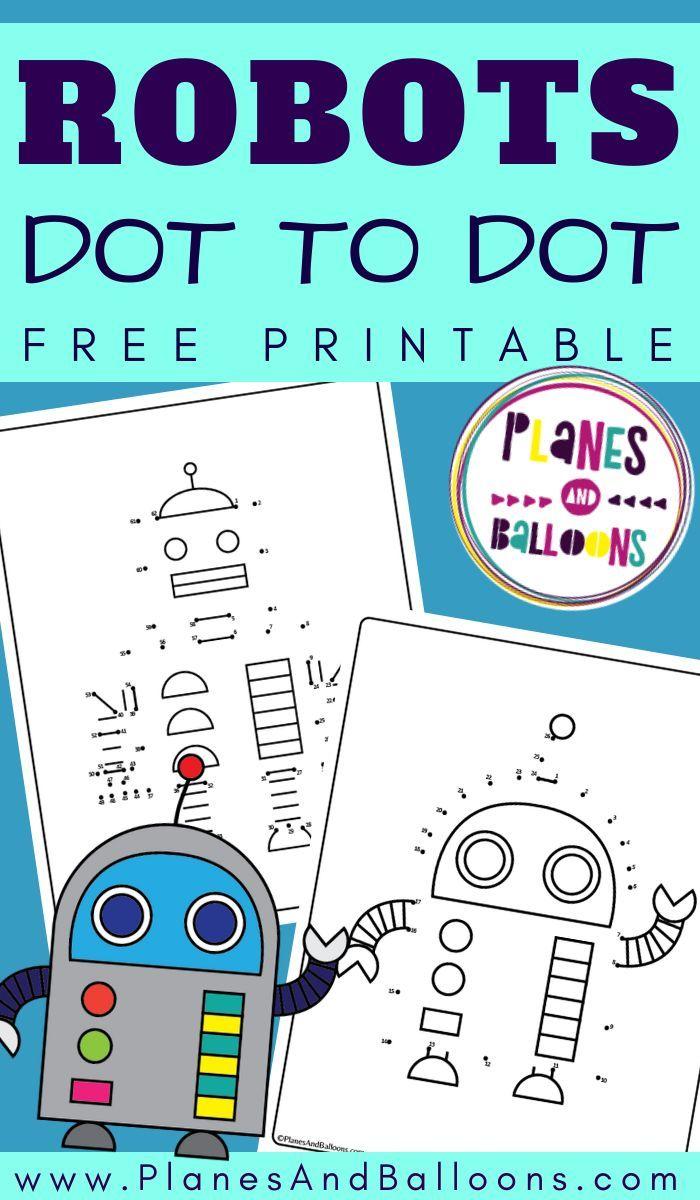 Robots Dot To Dot Printable Kindergarten Math Worksheets Free Math Activities Kindergarten Printables Kindergarten Math Activities [ 1200 x 700 Pixel ]