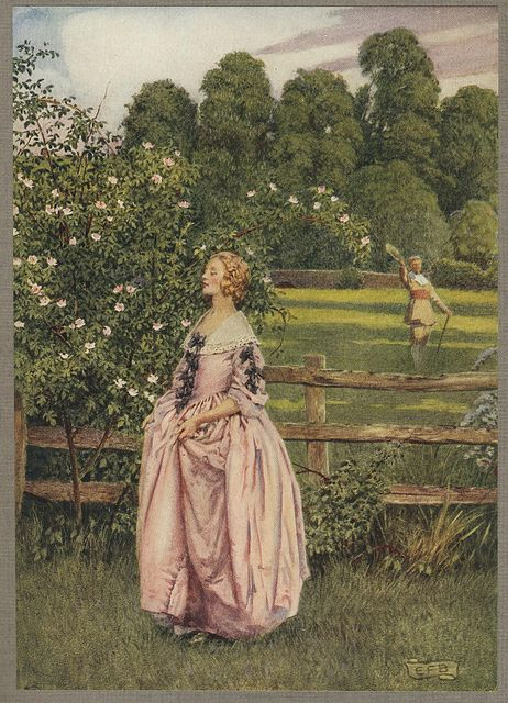 "Eleanor Fortescue Brickdale illustration  "" If she be not so to me   What care I how fair she be ? """