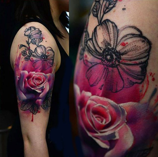 Abstract Daisy Tattoo: Abstract Flower Tattoos, Abstract Flowers And Flower