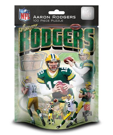 Look at this #zulilyfind! Aaron Rodgers Green Bay Packers Puzzle #zulilyfinds