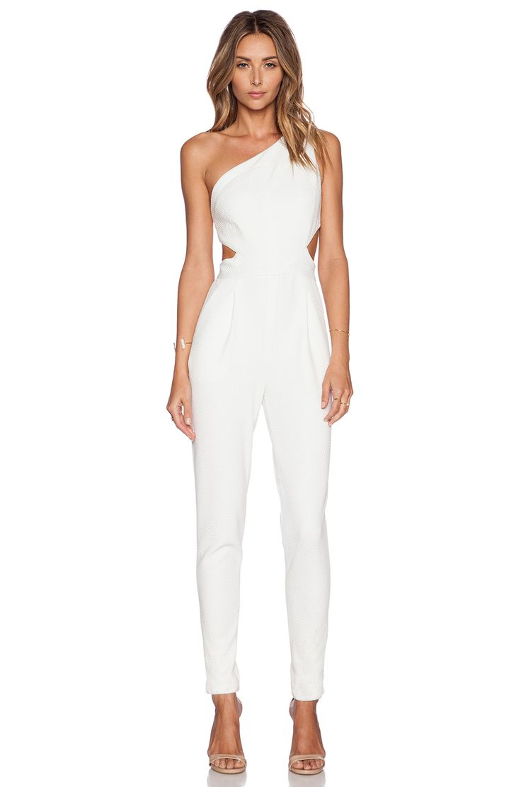 Hunter Bell Kelly Jumpsuit in White Dobby | REVOLVE