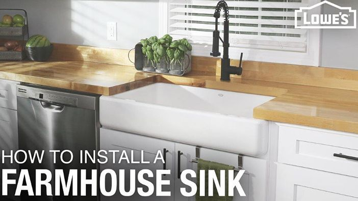 How To Install A Farmhouse Sink With Images Farmhouse Sink