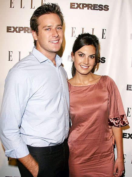 Armie Hammer , Elizabeth Chambers - married now - in love - he adores her - which makes him my kind of guy.