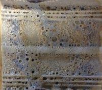 Stoneware crater glaze