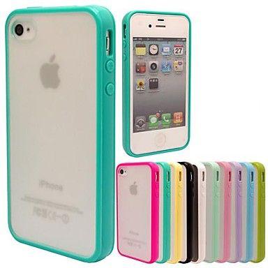 maylilandtm tpu kader scrub pc terug beschermhoes voor iPhone 4 / 4s (verschillende kleuren) – EUR € 2.87