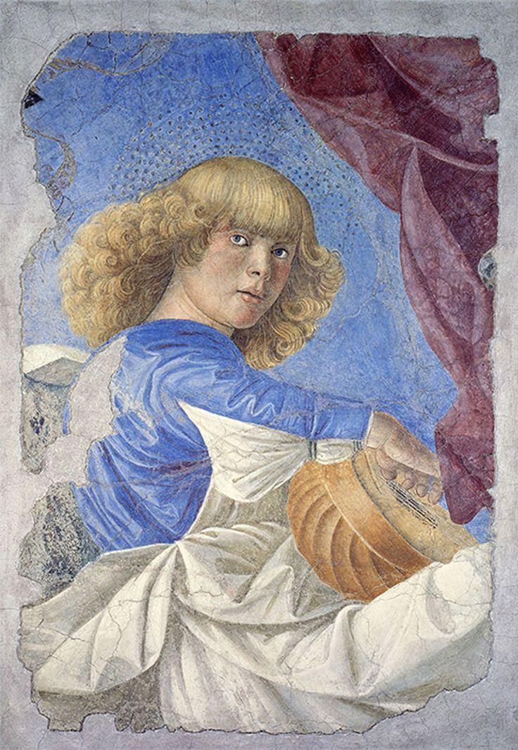 До свидания, Вечный Рим! - Наводы. Мелоццо дельи Амбрози, прозванный Mелоццо да Форли. Aнгел, играющий на лютне, 1480. Фрагмент фрески, снятой со стены.
