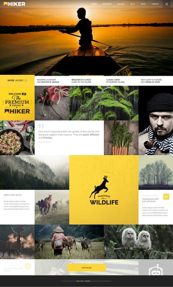 HIKER   Photography WP Theme on Web Design Served