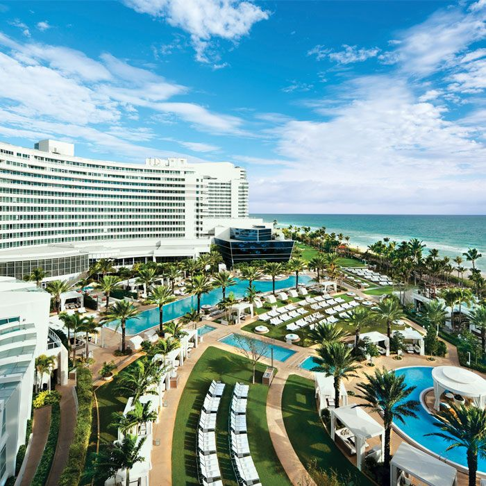 Pools & Beach At Fountainbleu Miami.  Fav hotel in South Beach. Everything about it is top notch. Miami Hotel Interior Designs