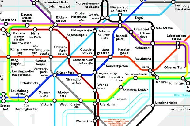 Alternative London Tube map | London - one of my favorite Cities ...