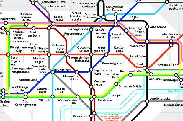 Alternative London Tube map | Underground | Pinterest