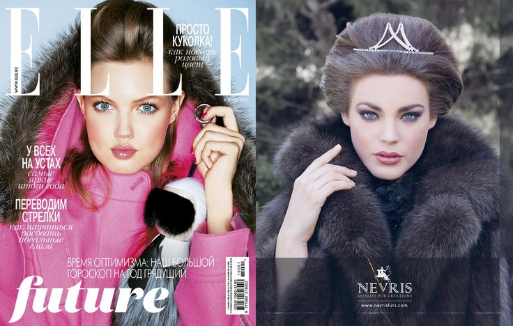 ELLE RUSSIA Advertising, January 2015.  www.nevrisfurs.com