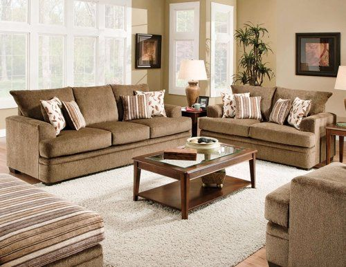 cornell cocoa living room sofa with a soft chenille fabric creates plenty of cozy seating mfg furniture amp mattress: living room mattress
