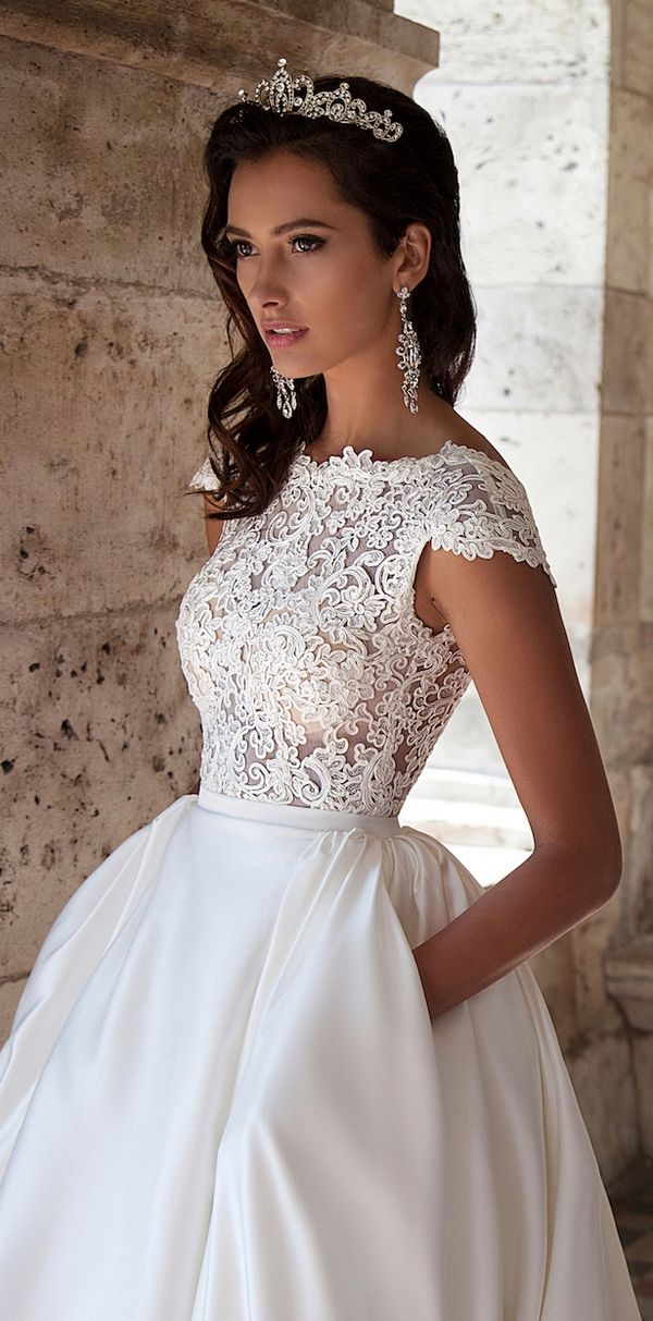 DRESS // milla nova 2016 bridal wedding dresses / http://www.deerpearlflowers.com/milla-nova-wedding-dresses/8/