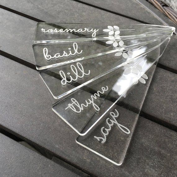 6 Tall Laser Engraved Acrylic Garden Labels Laser Engraved Acrylic Laser Engraved Ideas Laser Engraving