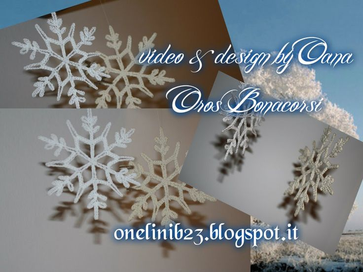 Crochet Snowflake.....These are PERFECT for glitter, too!!!  A