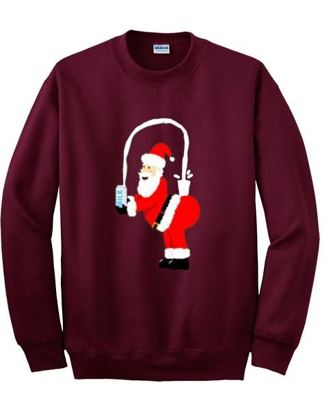 santa milk sweatshirt