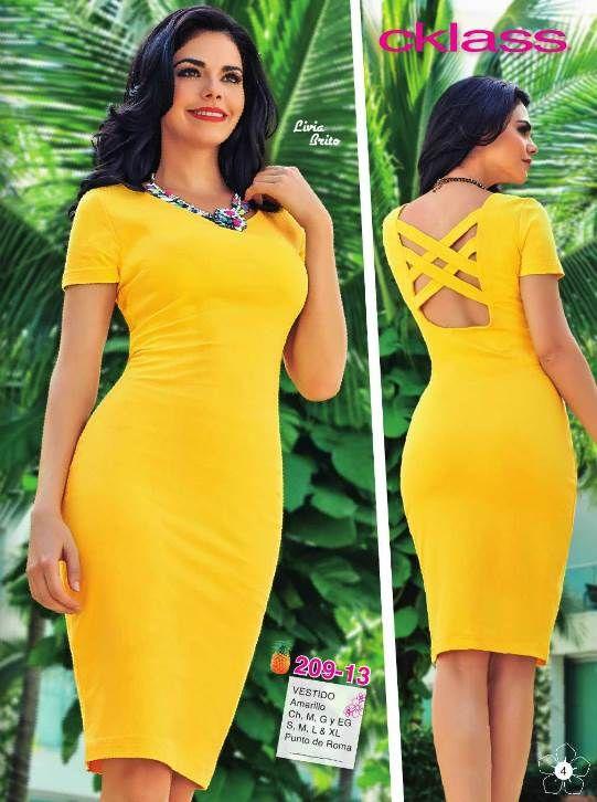 Vestido amarillo de Cklass Primavera Verano 2015. Livia Brito