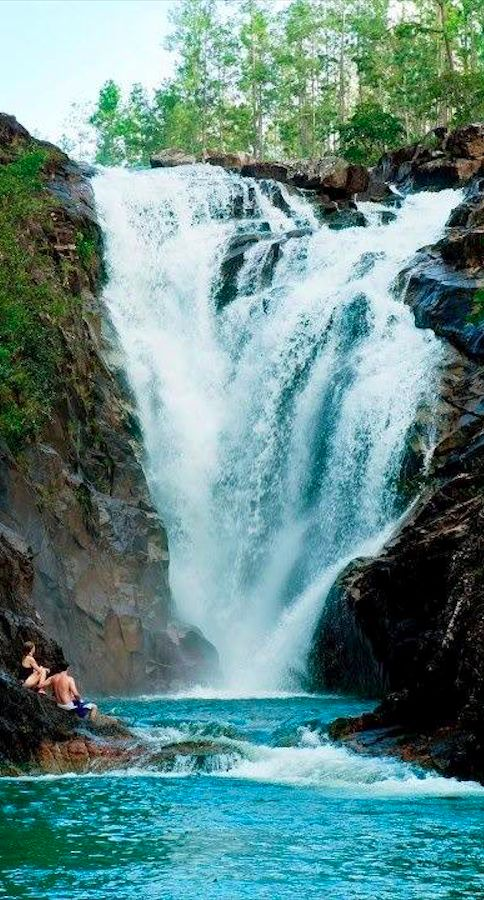 Big Rock Falls at the Mountain Pine Ridge Forest Reserve in Belize • photo: SplashBelize