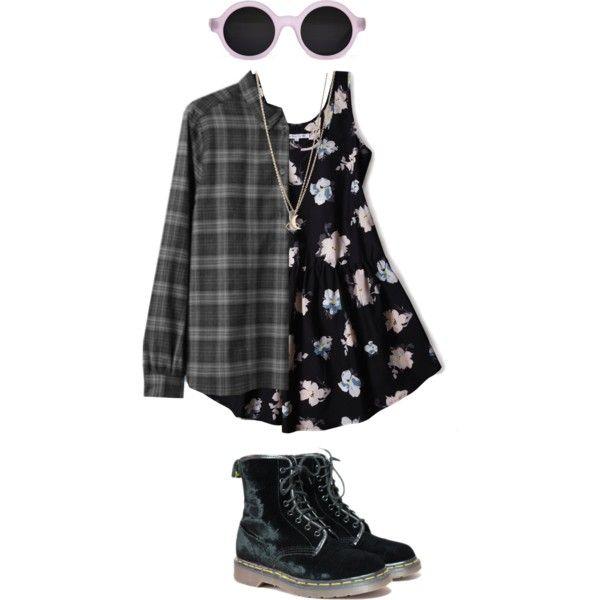 Grunge Dress + Flannel