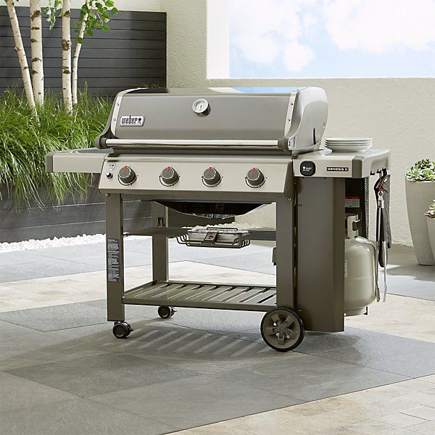 Weber Genesis Ii E 410 Smoke Gas Grill Gas Grill Gas Barbecue Grill Outdoor Kitchen Design