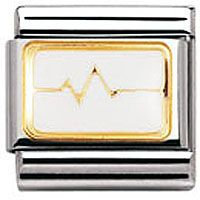 Nomination Charm Enamel Heartbeat