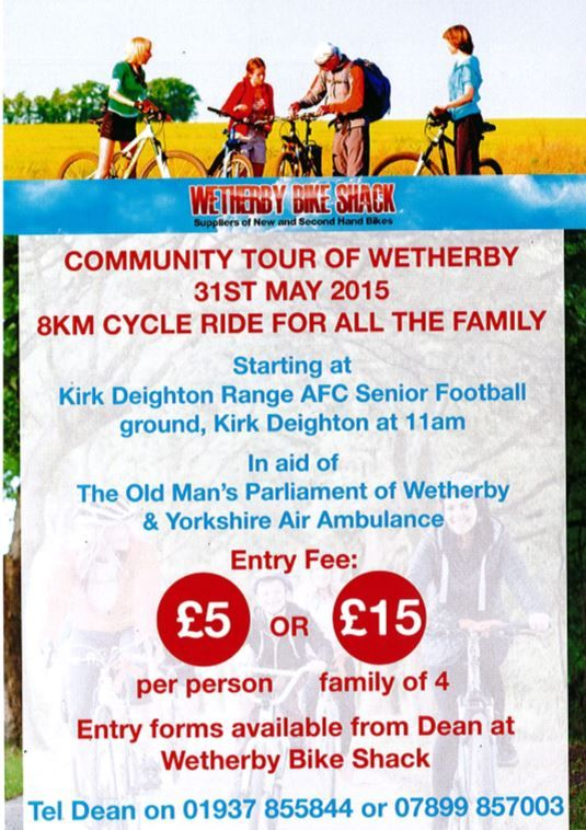 WETHERBY: Community Tour of Wetherby starts from Kirk Deighton AFC Seniors Football Ground, Wetherby on 31st May