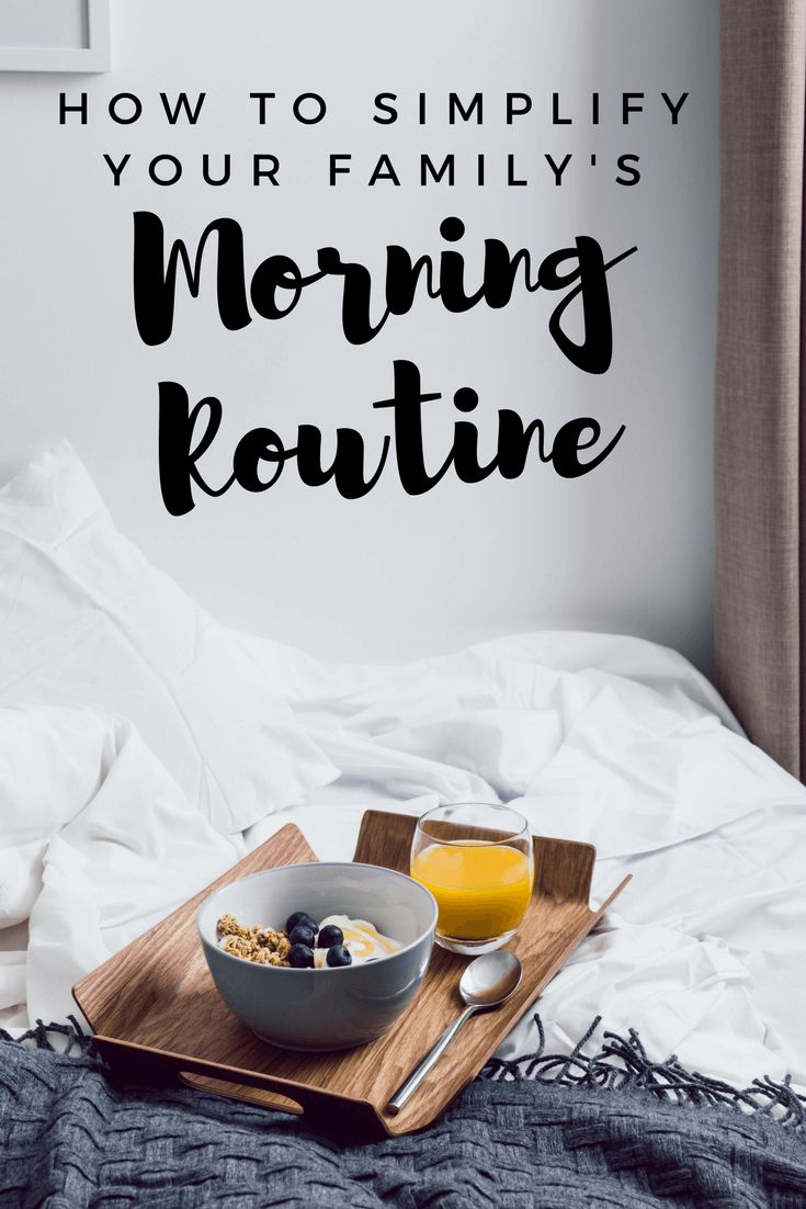 A Simple Morning Routine For School Days