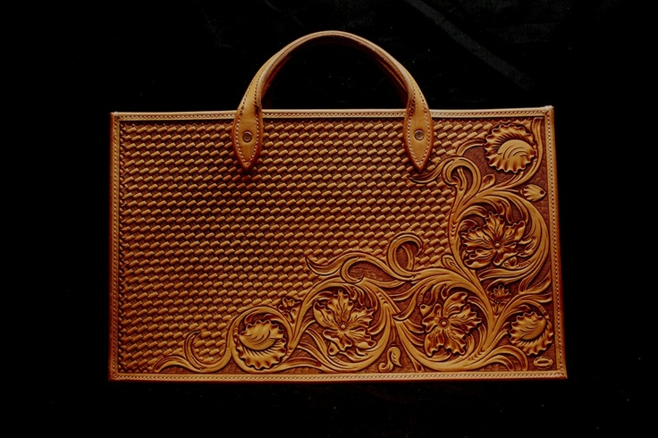Leather hand tooled purse. Made by Matt Moran