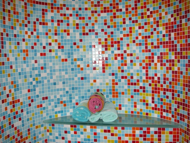 Bright and bold colors of mosaic tiles