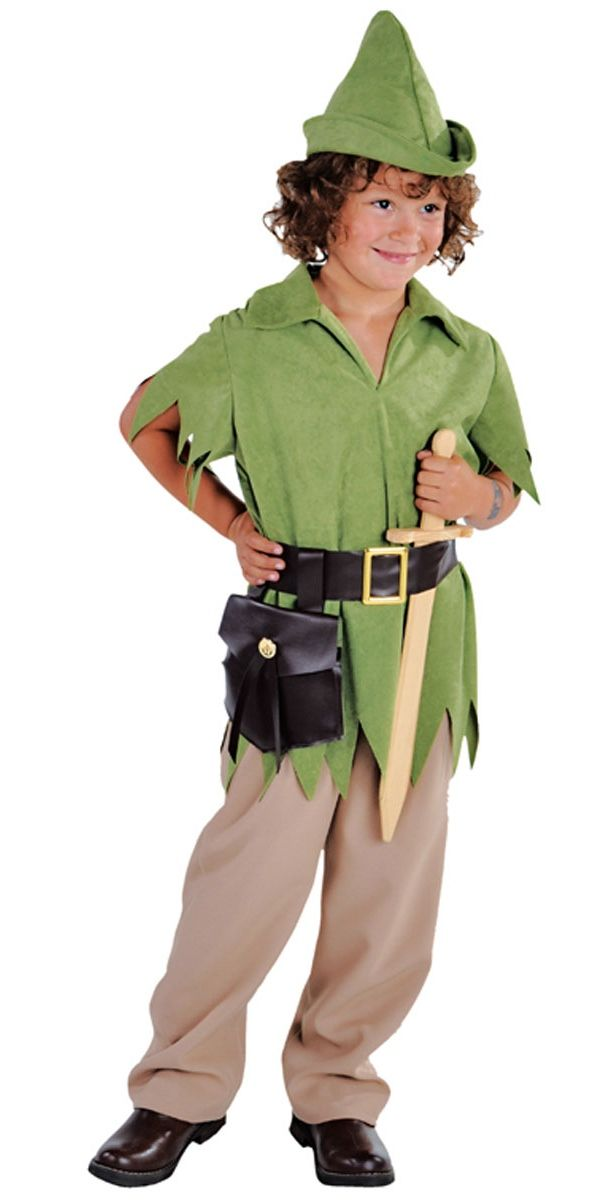 boys costumes to make at home   ... World Book Day Costumes > Deluxe Robin Hood or Peter Pan Boy Costume