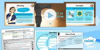 PlanIt - RE Year 6 - Free Will and Determinism-The Crucifixion Lesson 2: Free Will or Determinism Lesson Pack - Easter, crucifixion, free will, determinism, choice
