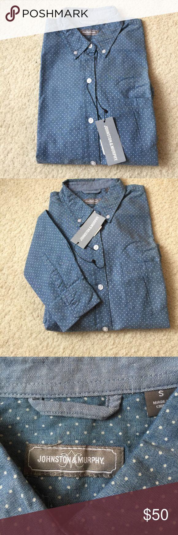 Johnston & Murphy Long Sleeve NWT!! Johnston & Murphy Swiss Dot Long Sleeve Button Down shirt. 100% Cotton Johnston & Murphy Tops Button Down Shirts