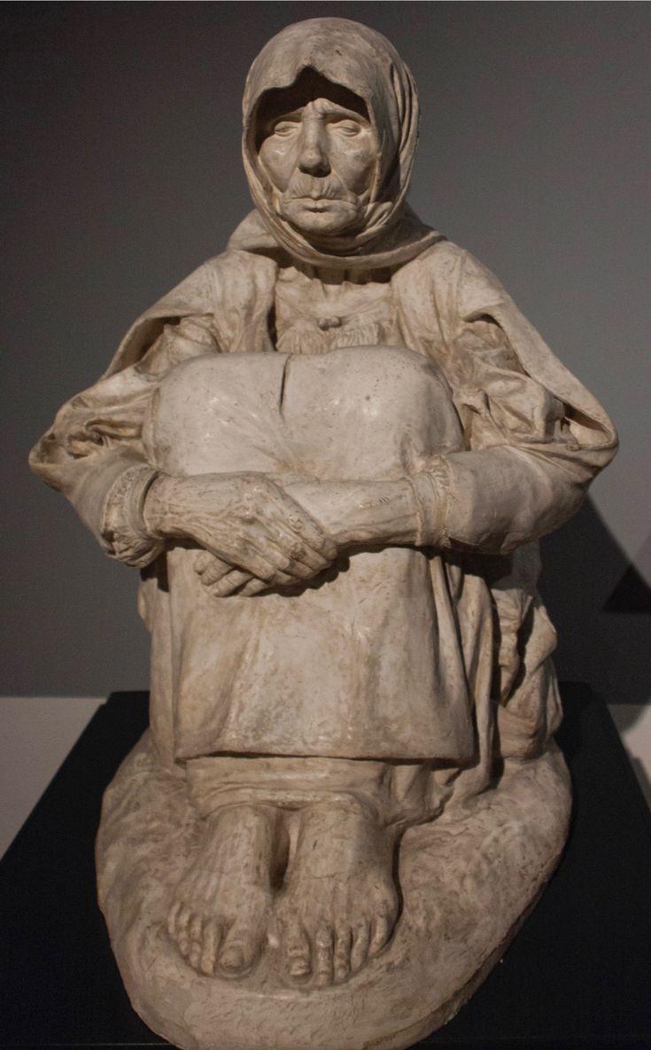 """Francesco Ciusa: """"La madre dell'ucciso"""", 1907, Current location: Galleria d'Arte Moderna Sant'Anna; Palermo, Italy."""