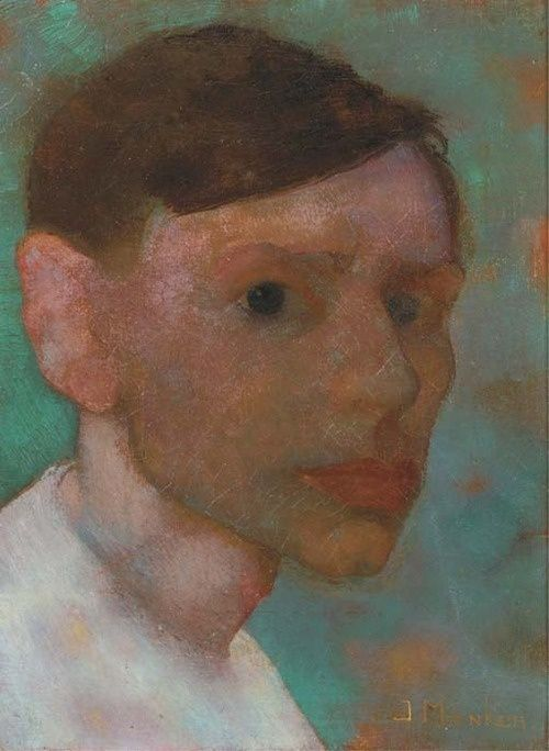 jan mankes (1889-1920) A Self-Portrait (c.1912)