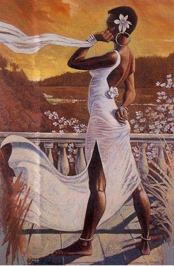 """Summer"" | by Bobb Vann. Black Heritage Artwork | (One of four ""seasons"" prints)"