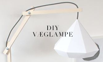 ▌H E R L I G H E D E R: Væglampe i træ // DIY