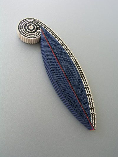 Blue Brooch Corrugated Cardboard -2011 - by ????????????? Anne Finlay ?