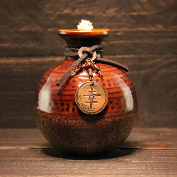 Asian Inspired Honey Pot Tiki Torch Oil Lamp by ShopPrettyPatina