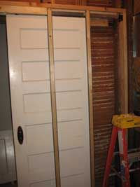 We used this tutorial for our pocket door in our new bathroom
