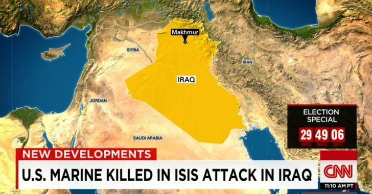 US Press Secretary Cook added that several other Marines were wounded in the Islamic State attack. This is the first time the firebase in Iraq was mentioned