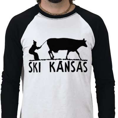 Ski kansas black t shirt the winter home and black for Funny kansas jayhawks t shirts