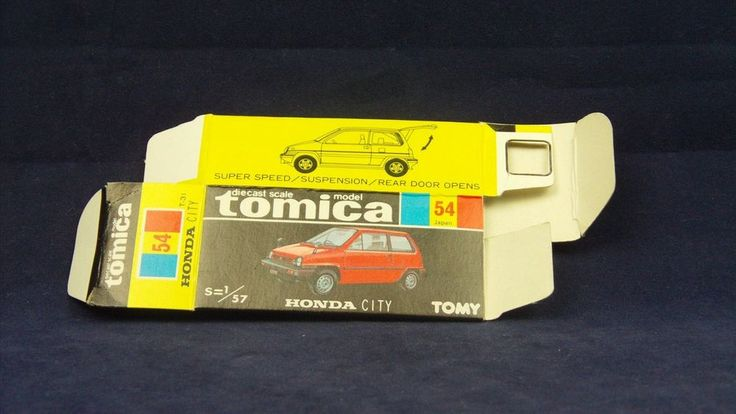 TOMICA 054C HONDA CITY   1/57   ORIGINAL BOX ONLY   1981-1983 JAPAN (A