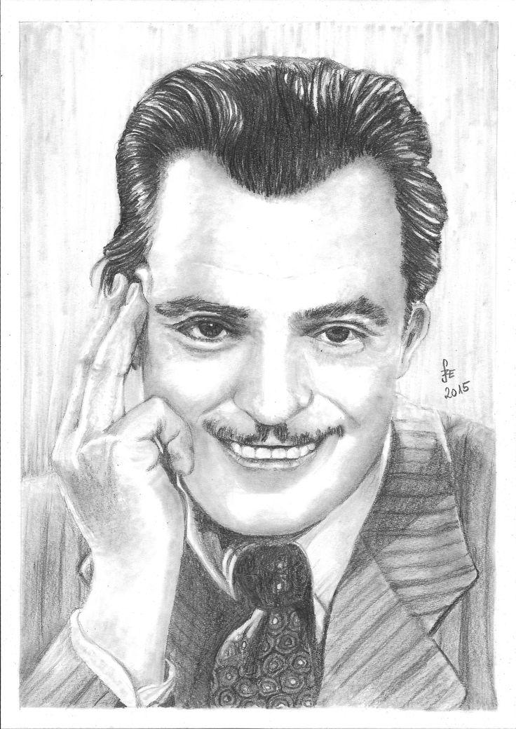 Pencil drawing portrait Jávor Pál by Erika Székesvári https://www.facebook.com/ercziart/